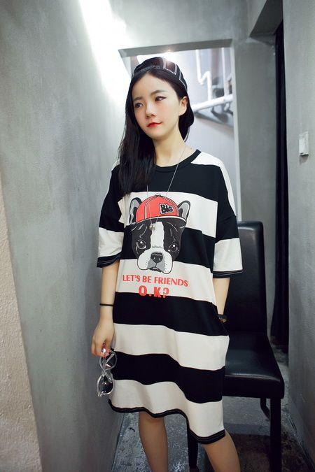 夏季学韩妞穿搭 男友风大码衣引领时尚